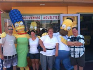 The Simpsons ride at Universal Studio LA
