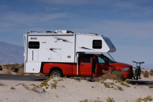 Our RV choice a Deluxe Lance truck Camper over a 4WD , Dodge 2500 Dully. We were ready for anything....?