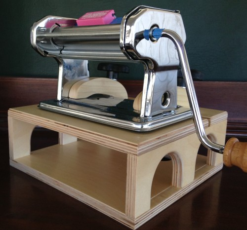 The new Pasta Pal, Polymer clay pasta machine lift