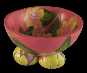 miniature footed bowls by Linda Prais