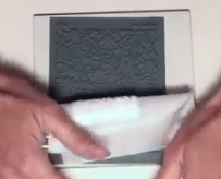 emboss your clay with the texture stamp