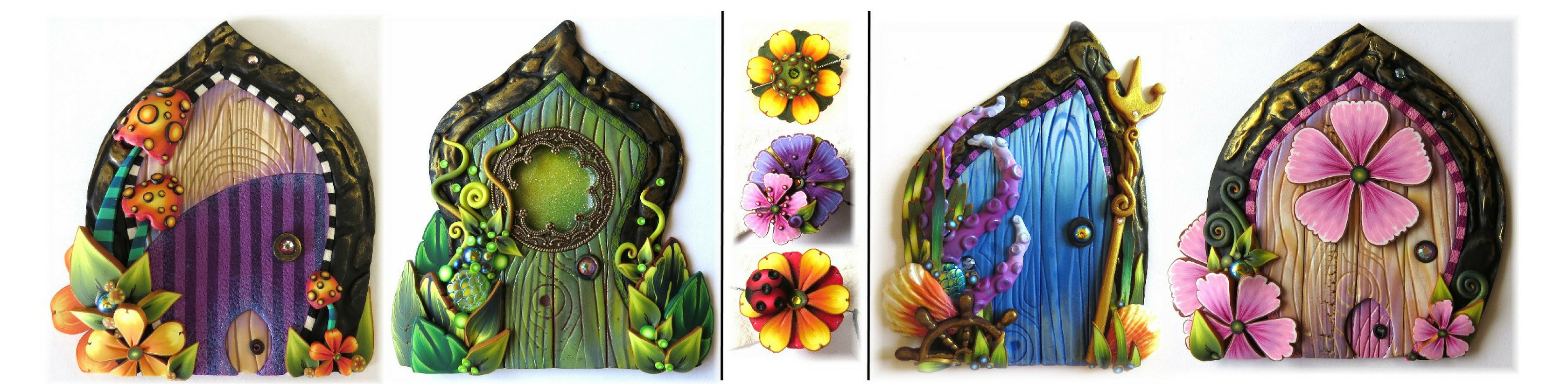 The wonders of a fairy house door and other enchanted doors in polymer clay & The wonders of a fairy house door and other enchanted doors in ...